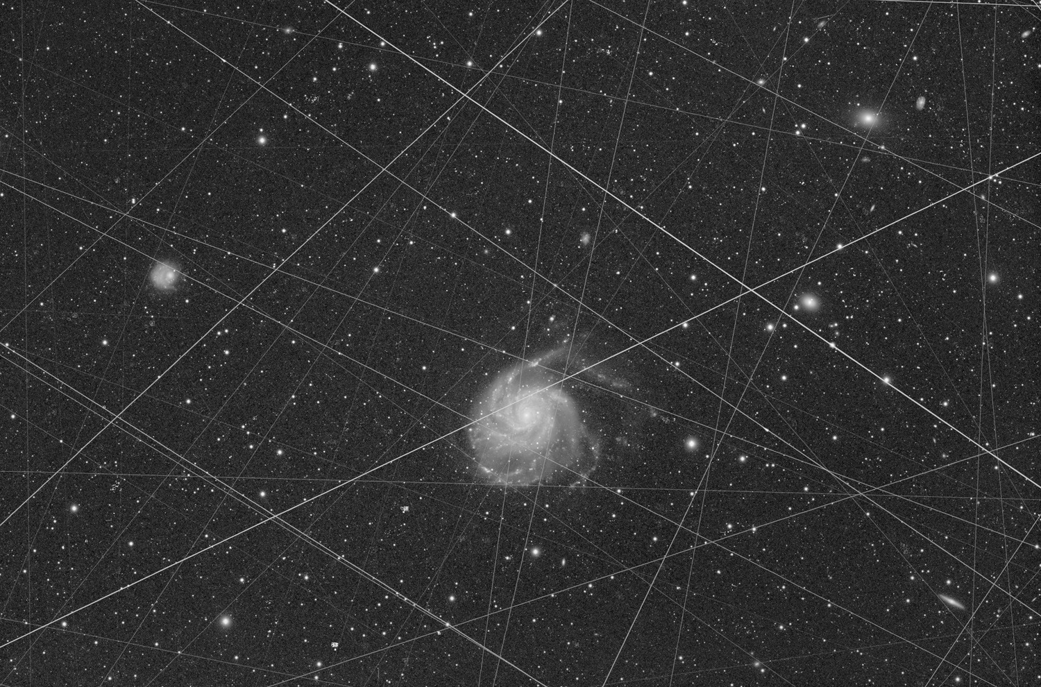Satellites at M101