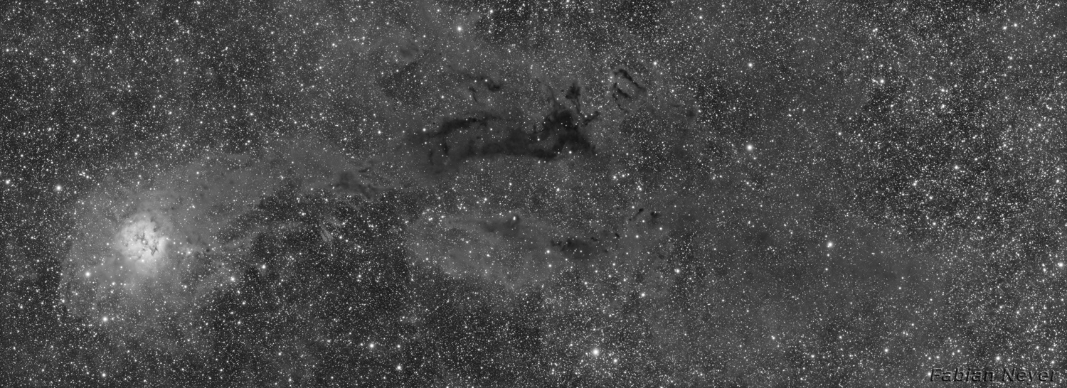 Cocoon Nebula Panorama luminance 1500