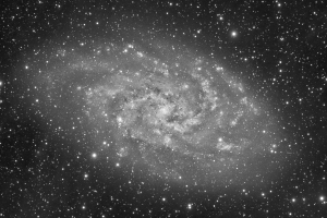 Triangulum Galaxy luminance