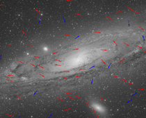 Andromeda Galaxy Star motion